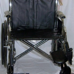 "24"" Heavy Duty Wheelchair with Footrests"