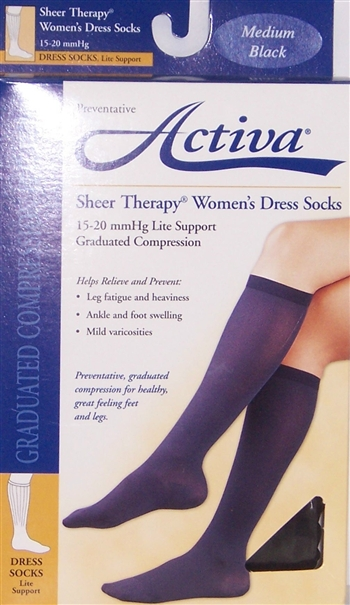 Activa Women's 15-20 mmHg Graduated Compression Socks
