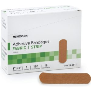 "Adhesive Bandages 1x3"" 100/Box 16-4811"