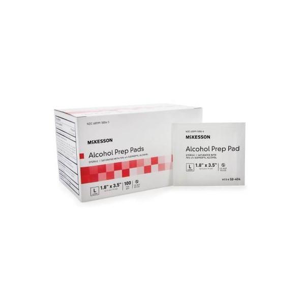 "Alcohol Prep Pads Sterile 1.8x3.5"" 100/Box 58-404"