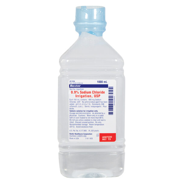 0.9% Sodium Chloride Irrigation 1000 mL 2F7124